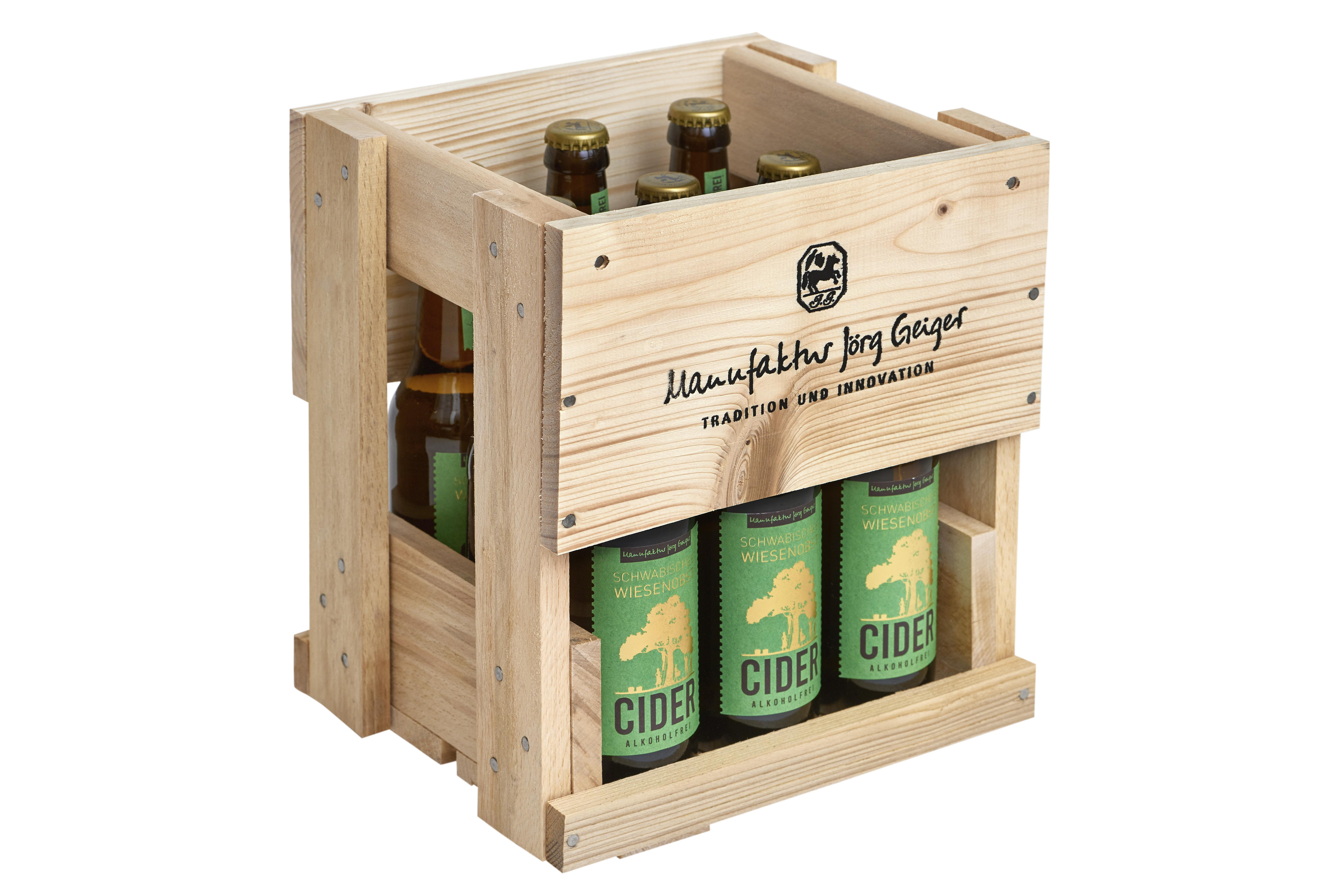 SWO Cider - alkoholfrei in der 9er Holzkiste
